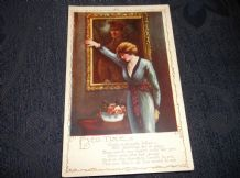VINTAGE POSTCARD WWI ARMY EVER TRUE POEM COLOUR PICTURE UNPOSTED